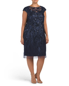 Plus Embroidered Soutache Dress
