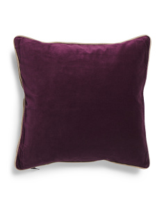 20x20 Luna Park Velvet And Linen Look Pillow