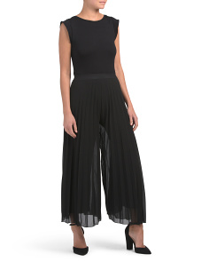 Made In Italy Pleated Hem Jumpsuit