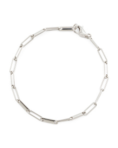 Made In Italy Sterling Silver Long Link Bracelet