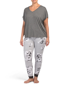 T-shirt With Floral Joggers