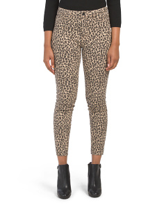 Juniors High Waist  Leopard Twill Pants