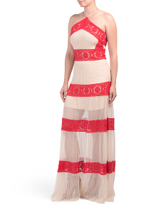 Criss Cross Lace Maxi Dress