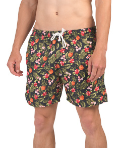 Pineapple Floral Swim Shorts