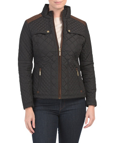 Petite Quilted Moto Jacket
