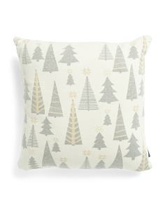 20x20 Metallic Trees Pillow