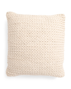 20x20 Chunky Woven Wool Blend Pillow