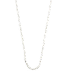 Made In Italy Sterling Silver Snake Chain Necklace