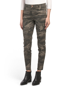 Juniors High Rise Camo Ankle Skinny Pants