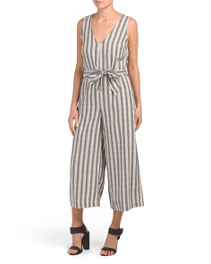 Yarn Dye Striped Jumpsuit