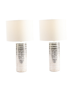 Set Of 2 Decal Lamps