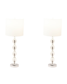 Set Of 2 Oval Stacked Lamps