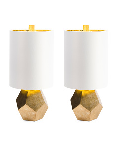 Set Of 2 Geo Lamps
