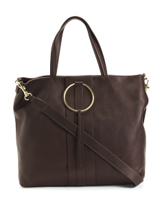 Made In Italy Leather Ring Tote