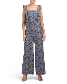 Stretch Jacquard Jumpsuit