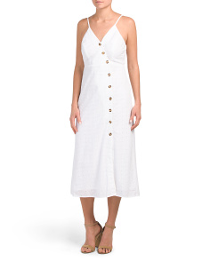 Juniors Midi Eyelet Dress
