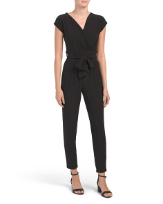 Juniors Belted Jumpsuit