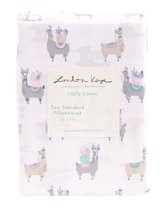Llama Parade Pillowcase Set