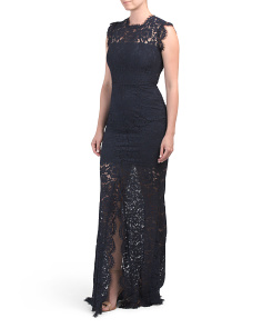 Estelle Cut Out Lace Maxi Dress