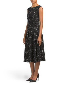 Petite Polka Dot Side Tie Dress