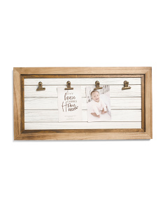 4 Clip Wood Wall Display