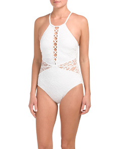 Shalimar Sexy High Neck One-piece Swimsuit