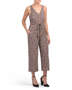 Juniors Ditsy Print Jumpsuit