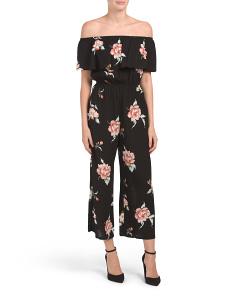 Juniors Ruffle Floral Jumpsuit