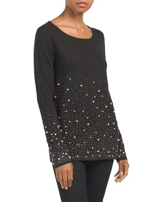 Cashmere Beaded Sweater Tunic