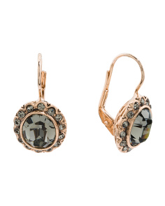 Made In Italy Rose Gold Plated Bronze Vintage Look Earrings