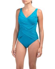 Criss Cross Lattice One-piece Swimsuit