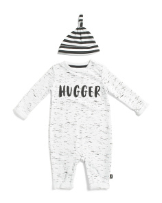 Baby Boys Hugger Coverall With Hat