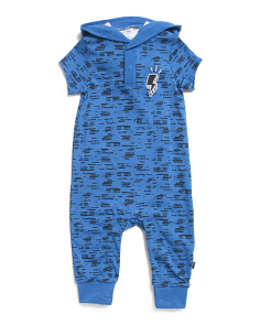 Baby Boys Lightening Bolt Hooded Coverall