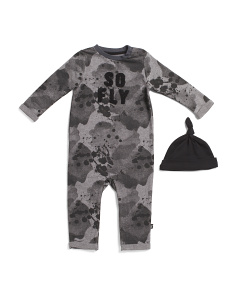 Baby Boys 2pc So Fly Coverall With Hat