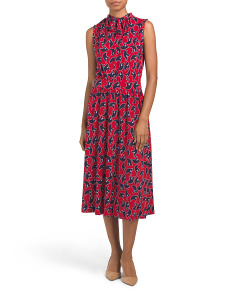 Mindy Shirred Midi Dress