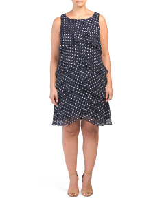Plus Polka Dot Tier Dress