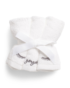 Set Of 6 Hello Gorgeous Wash Towels