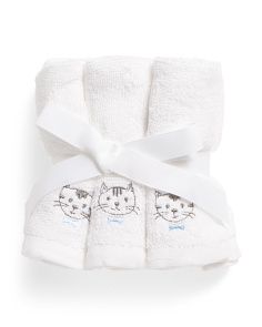 Set Of 6 Kitty Wash Towels
