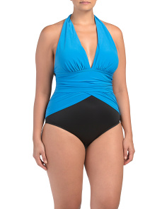 Made In Usa Tummy Control One-piece Swimsuit