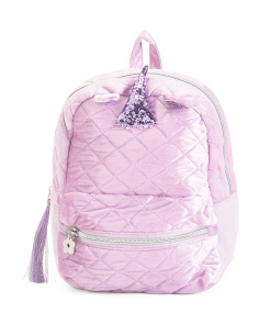 Quilted Velvet Mini Unicorn Backpack