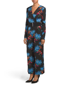Crossover Printed Jumpsuit