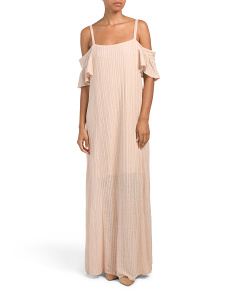 Cold Shoulder Textured Maxi Dress