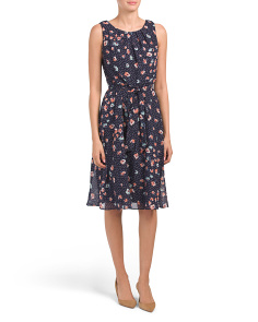 Petite Fit & Flare Floral Midi Dress