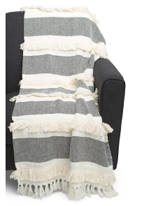 Texture Striped Throw