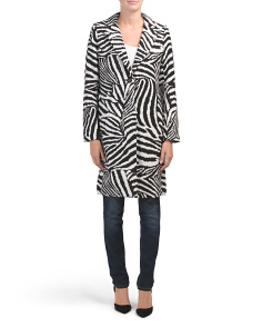 Zebra Wool Coat