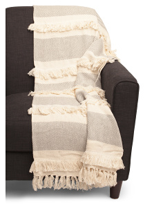 Textured Stripe Throw