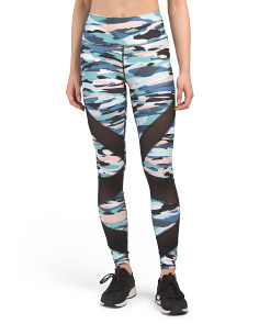 Camo Print Streamer Ankle Leggings