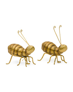 Set Of 2 Ant Figurines