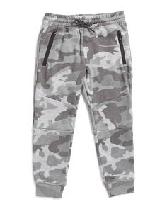 Little Boys Zip Pocket Camo Joggers