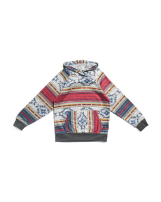 Little Boys Cozy Knit Desert Stripe Hoodie